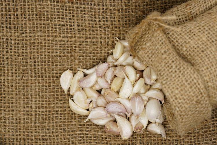 Garlic Medicine Raw Sack Cloth Backdrop Backgrounds Sack Bag Texture