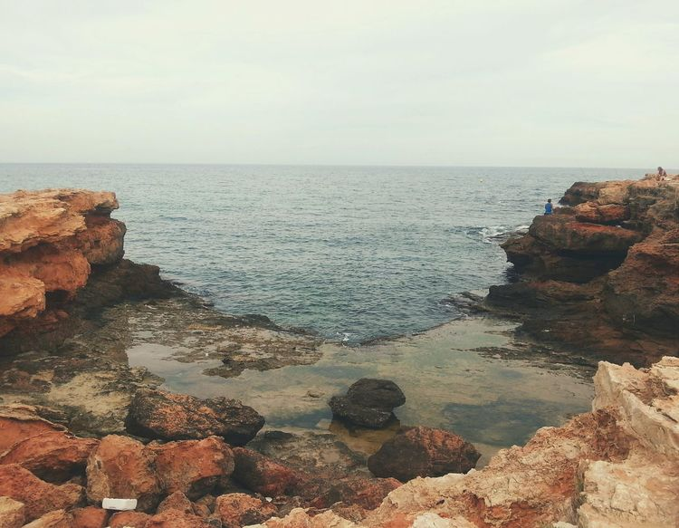Red Rocks ... Torrevieja SPAIN Sea Mediterranean  Bay Cliffs Море берег Seaside