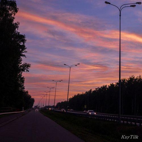 Небо над Казанью казань Kzn Ilovekazan Tatarstan Russia небо Закат 24062015