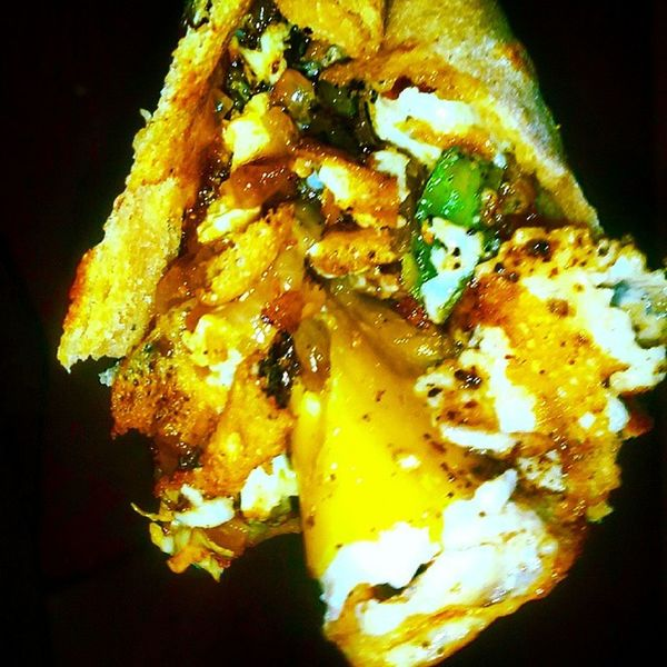 Yummy Tangy Egg Kathi Roll Chiliflakes Eggs Onions Oregano Veigie Nonveg Lovers Superb Tasty Treat Classie Chef Harpreet