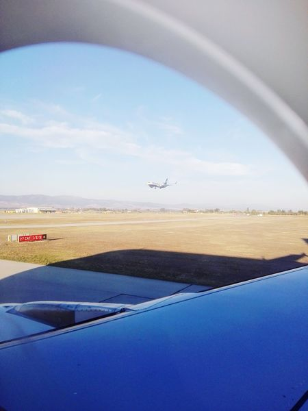 Focus On Foreground Airplane Busy Place Journey On The Move Aircraft Wing Strange Feeling
