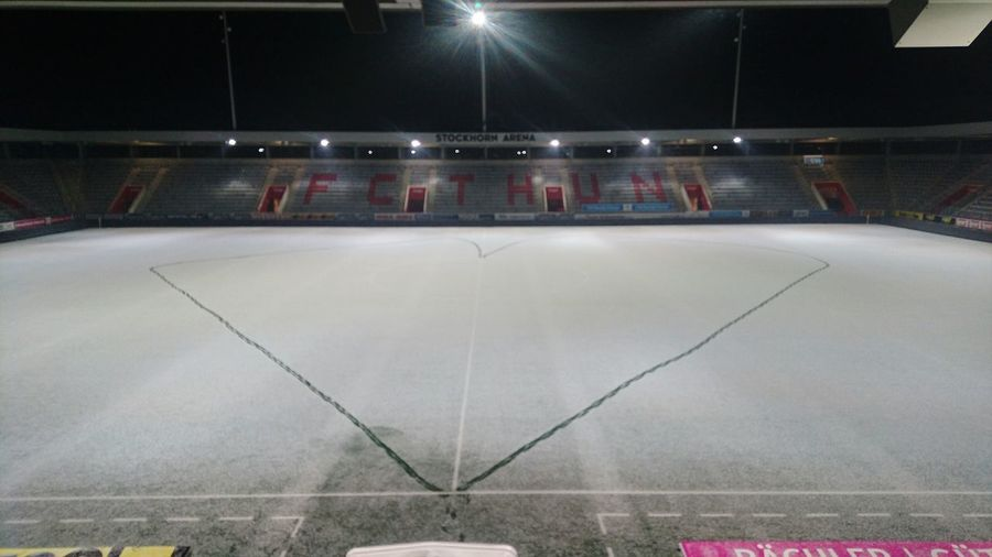 finaly we created a heart for our friends in all the world. we wish you a happy new year. Event Business And Events FC Thun Berner Oberland Berner Oberland Switzerland SuperLeague Snow Love ♥ Peace Stockhorn Arena Heart ❤ Stadium Illuminated Cold Temperature