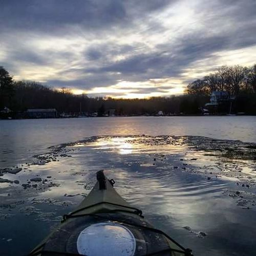 Kayaking In Nature Ice Covered Waters After Sunset Water Reflections Ice Reflections My Backyard Oasis Nevertoocoldtokayak Goinganylenghtsforagreatpicture Love Living On The Water California MD USA