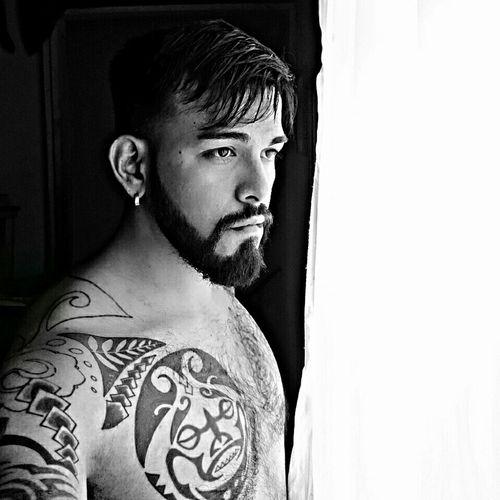 That's Me Beard Peace ✌ Lumbersexual Popular Barbershop Selfie ✌ Blac&white  People And Art Model