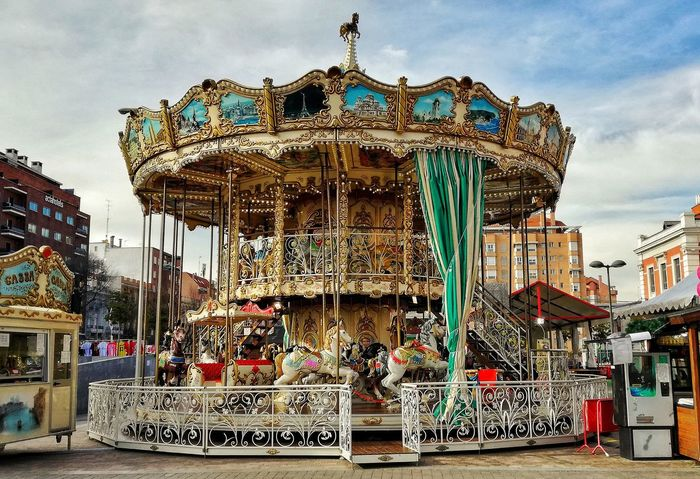 Carrusel Carousel No People Outdoors Carousel Horses Arts Culture And Entertainment Sky Day Merrygoround Merry-go-round First Eyeem Photo