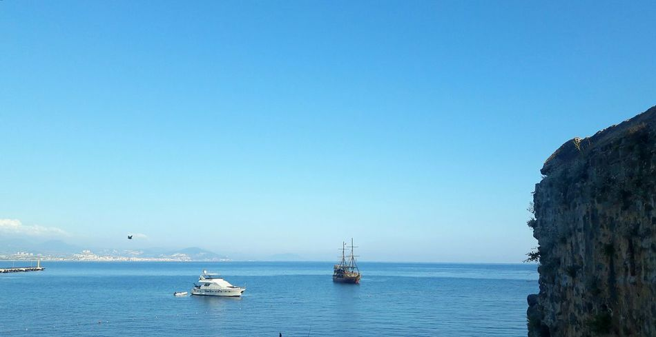 Ship Outdoors Sea Water Transportation No People Day Sky Blue Clear Sky City Sailing Ship Alanyakalesi Alanya Antalya Kizilkale Akdeniz Deniz Gemi