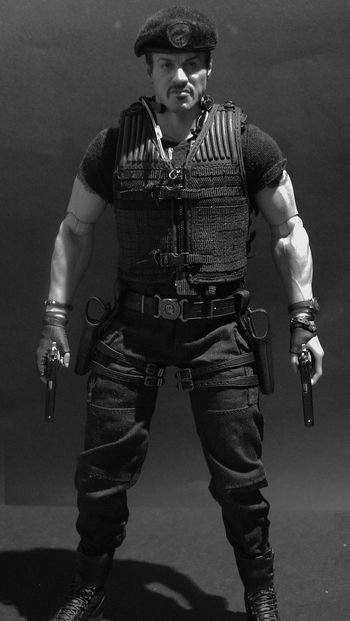 Stallone Toys Black And White Black And White Collection  Black And White Photography Blackandwhite Hot Toys Sideshowcollectibles The Expendables Toy Toy Photography Toyphotography