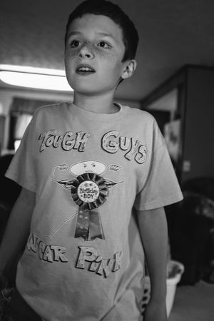Visual Journal September 03, 2018 Village of Western, Nebraska A Day In The Life Always Making Photographs B&W Collection Birthday Boy Camera Work Candid Portraits Everyday Joy EyeEm Best Shots Getty Images Happy Birthday Photo Essay Victor Ramos Visual Journal Boys Casual Clothing Child Childhood Communication Documentary Eye For Photography Focus On Foreground Front View Fujifilm_xseries Growing Up Indoors  Innocence Long Form Storytelling Looking At Camera Males  Men Monochrome Mouth Open Nine Years Old One Person Photo Diary Portrait Real People S.ramos September 2018 Schwarzweiß Son Standing Text Waist Up Western Script