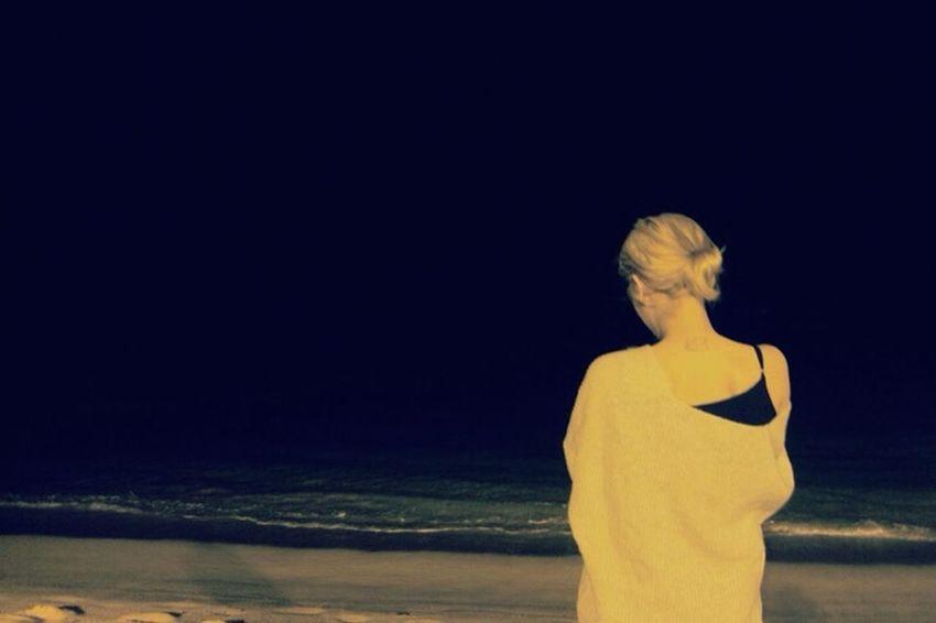 Night Sea Sentimental Alone staring at the la mer noir (2013).