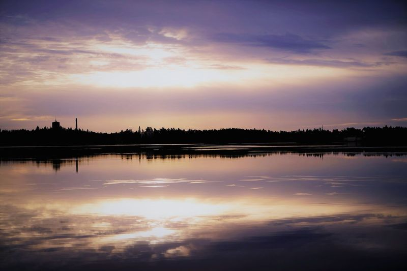 lake Reflection Water Lake Standing Water Tranquility Sunset Cloud - Sky Nature Landscape Sky Beauty In Nature Horizon Over Water Nature Reserve No People Outdoors Scenics