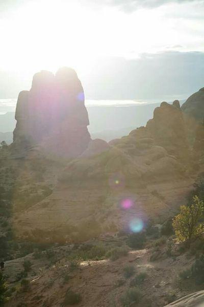 Arches National Park, Utah Solarflare Canyon Lens Flare