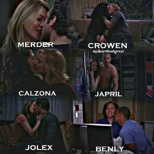 happy and inlove ships ??????❤?? Merder ✔ Crowen ✔ Calzona ✔ Japril ✔ jolex ✔ benly ✔ who is happy with them say YAY! !