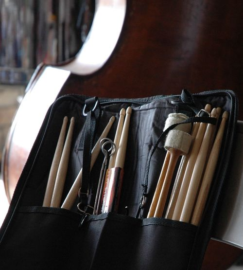 Close-Up Of Drumsticks In Bag