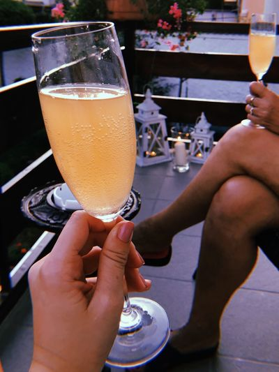 Glass Drink Refreshment Alcohol Drinking Glass Human Hand Household Equipment Hand Human Body Part Celebratory Toast Freshness Women Real People Champagne Flute Lifestyles Drinking Adult Holding