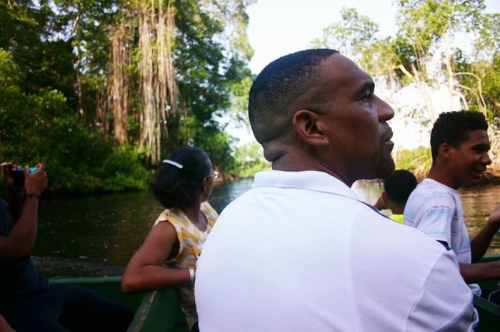 Enjoying the sceneries Boat Ride Caroni Swamp Bird Sanctuary Trinidad And Tobago Feel The Journey