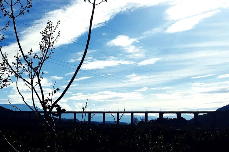 Nature Landscape Sky Day Outdoors Tranquility Scenics No People Sun Calabria (Italy) Lovemycity Cloud - Sky Bridge - Man Made Structure Architecture Bluesky