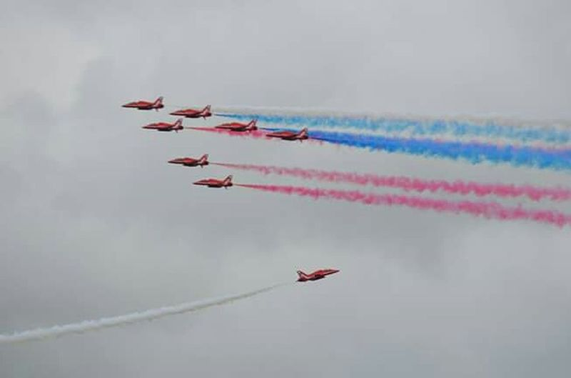 The red arrows Sky Matt Hollick Outdoors Planes Red Arrrows Plane