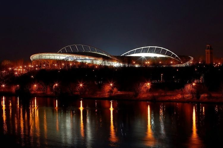 Leipzig Red Bull Arena Zentralstadion Night Lights