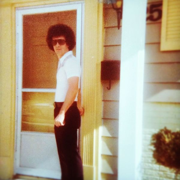 Old photo of my Dad in Chicago . 1976 Funky Starsky & Hutch Afro Polyester Disco 70s