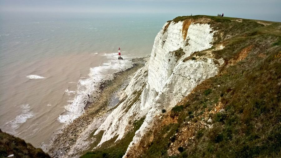 Beach Sea Nature Outdoors Sunlight Day Water Beauty In Nature Cliff CliffEdge Beachyhead Lighthouse