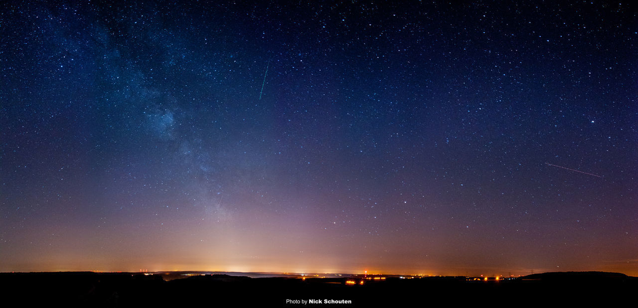 night, star - space, beauty in nature, nature, scenics, no people, tranquil scene, sky, astronomy, tranquility, outdoors, star field, silhouette, galaxy, starry, constellation, space