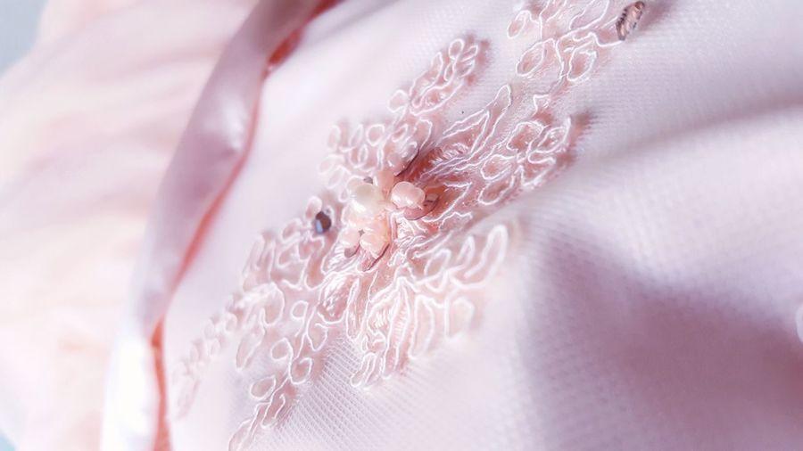 Close-up of pink fabric