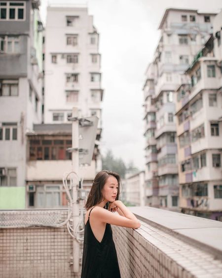 Peachy Hong Kong Pastel Pastel Palette Pastel Power Girl Women Around The World Pantone The Week On EyeEm Beautiful People Portrait Photography Outdoors One Young Woman Only Young Adult One Woman Only One Person Light_Collection Leisure Activity Contemplating City ASIA Asian Girl