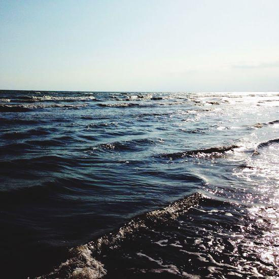 Blue. Sea. Angry. Sea