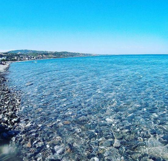 Monteggiordano Marina Blue Water Clear Sky Nature Horizon Over Water Sea Sky Day Beach No People Calabria Italy❤️ イタリア Beahero Italia