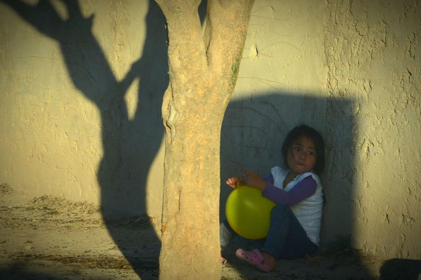 Children Only Child Childhood One Person Shadow People Playing Outdoors Day Boring Yellow