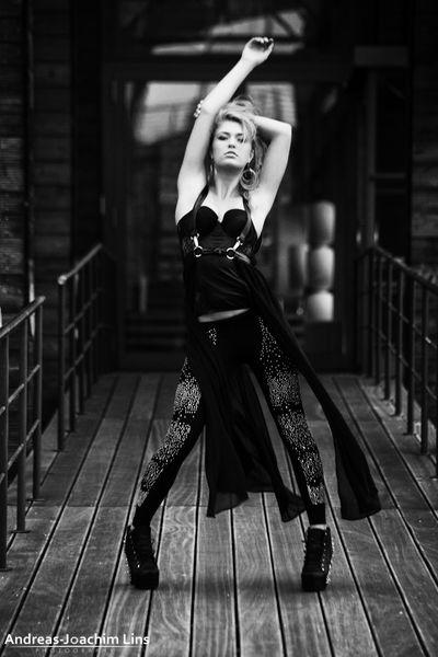 Blurred Lines Fashion Portrait Monochrome Model