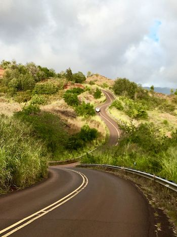 Waimea canyon road Elevation Sky Nature Day Cloud - Sky Landscape Plant Scenics No People Mountain Road Tranquility Outdoors Beauty In Nature