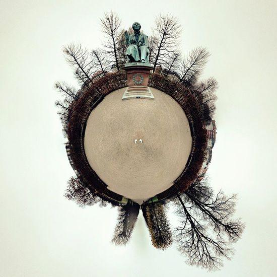 Look! It's Hcandersen in Kongenshave , Cph ! Afterlight tinyplanet googlecamera winter cool trees delditkbh