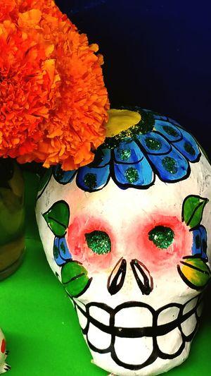 Dia De Los Muertos Calavera  Skull Cempasúchil Mums Day Of The Dead Mexico Mexican Culture Culture Tradition November 2nd