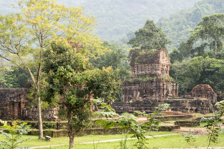 View of temple against trees