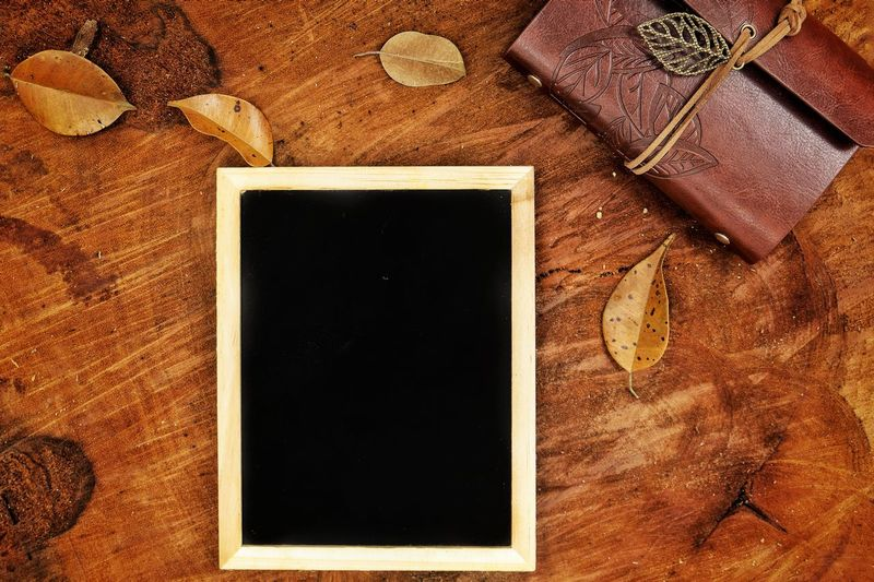 Blackboard and note on wooden log Photography Themes Backgrounds Frame Blank Summer Retro Styled Black Color Abstract Reminder Copy Space Picture Frame Chalkboard Wooden Wooden Log Nature Outdoors Camping Hiking Adventure Empty Brown Textured  Vacations Photograph No People