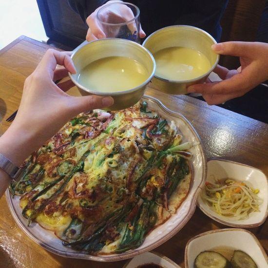 Korean Food Delicious Makgeolli Pajeon