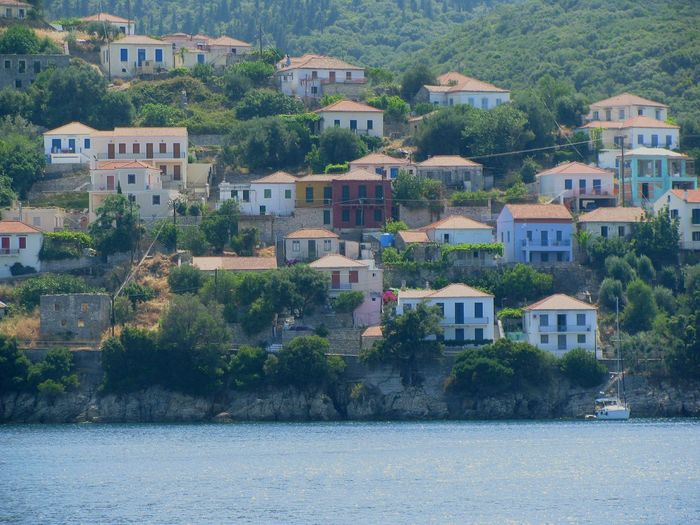 Greek Village Village Architecture Village View Villagescape Ithaca Island Greek Islands Houses On A Boat Residential District Housing Settlement Trees Tranquil Scene TOWNSCAPE No People Picturesque Traditional Traditional Architecture Landscapes Long Goodbye