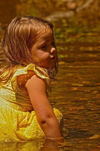 Kids Portrait Nature Water