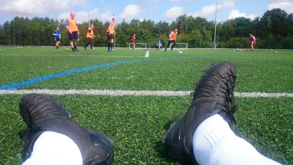 Open day part 2 Cloud - Sky Coaching Day Field Grass Green Color Leisure Activity Lifestyles Outdoors Relaxation Sky Sport Trial Umbro Unrecognizable Person