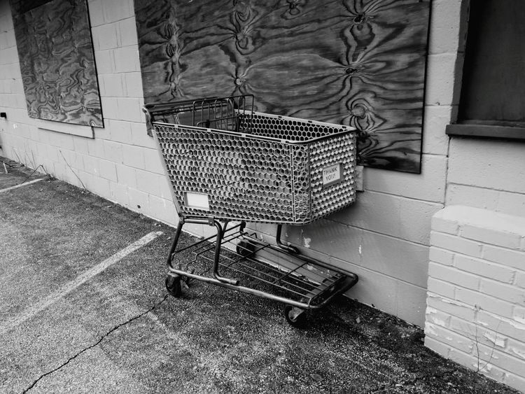 Vacant Vacant Lot Vacantplaces Shopping Cart Cart Stray