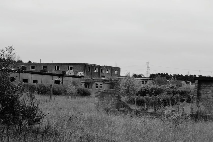 Abandoned Buildings Beauty Of Decay Abandoned_junkies Empty Places Urbex Abandoned Places World War 2 Military EyeEm_abandonment Black And White Photography Bnw_life Overgrown