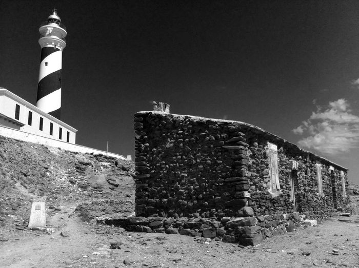 Architecture Blackandwhite Building Exterior Cami De Cavalls Day Favaritx Lighthouse Menorca No People Outdoors SPAIN