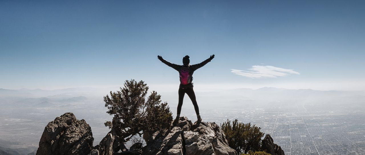 Happy International Women's Day! PressforProgress Beauty In Nature Day Full Length Landscape Lifestyles Men Mountain Mountain Range Nature One Person Outdoors People Real People Scenics Sky Standing California Dreamin Go Higher
