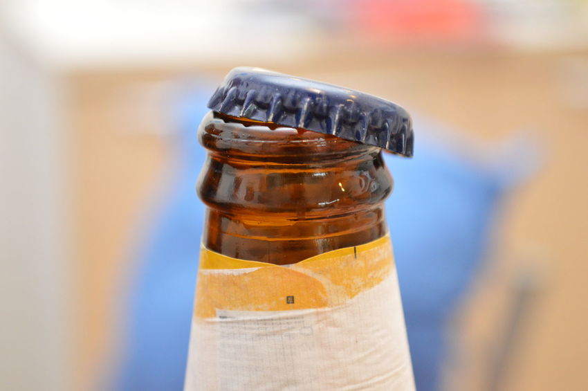 bottle beer and stopper Bottle Close-up Food And Drink Indoors  No People Alcohol Drink Day