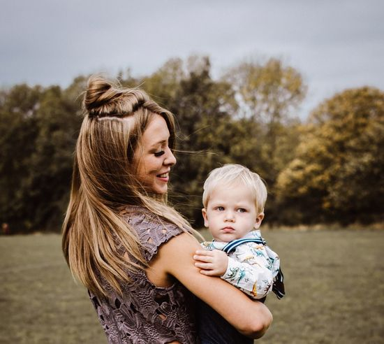 England🇬🇧 Nature Autumn Outdoors Beauty In Nature People Childhood Togetherness Baby Love Bonding Family With One Child Mother Focus On Foreground Casual Clothing Day Real People Holding Young Adult Blond Hair Young Women Sky Lifestyles Portrait Happiness