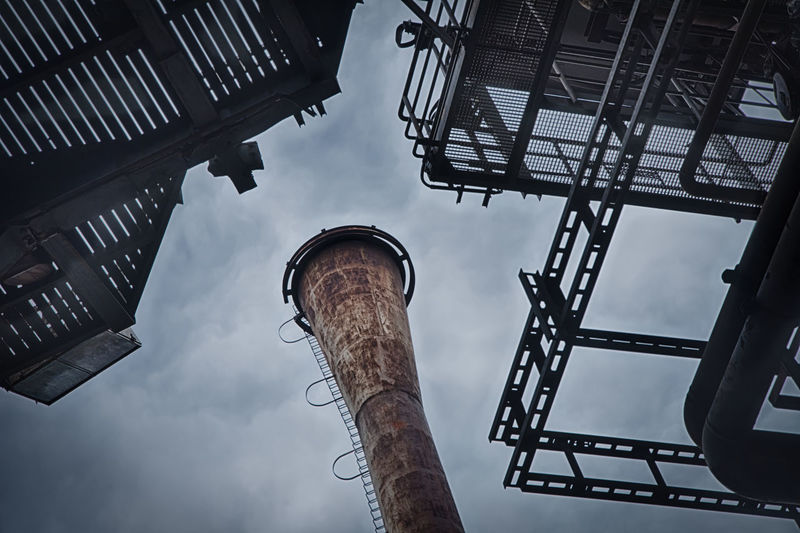Urbex - 10 Low Angle View Sky Architecture Built Structure Day Building Exterior No People Nature Cloud - Sky Metal Lighting Equipment Outdoors Street Light Street City Building Factory Communication Travel Destinations Tower Ceiling