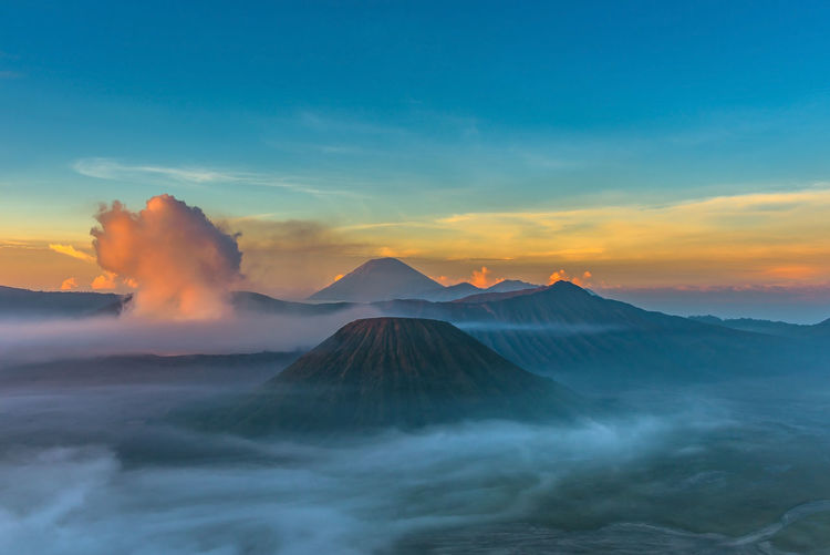 Beauty In Nature Cloud - Sky Environment Geology Idyllic Land Landscape Mountain Mountain Peak Nature No People Non-urban Scene Outdoors Physical Geography Power In Nature Remote Scenics - Nature Sky Sunset Tranquil Scene Tranquility Travel Destinations Volcanic Crater Volcano