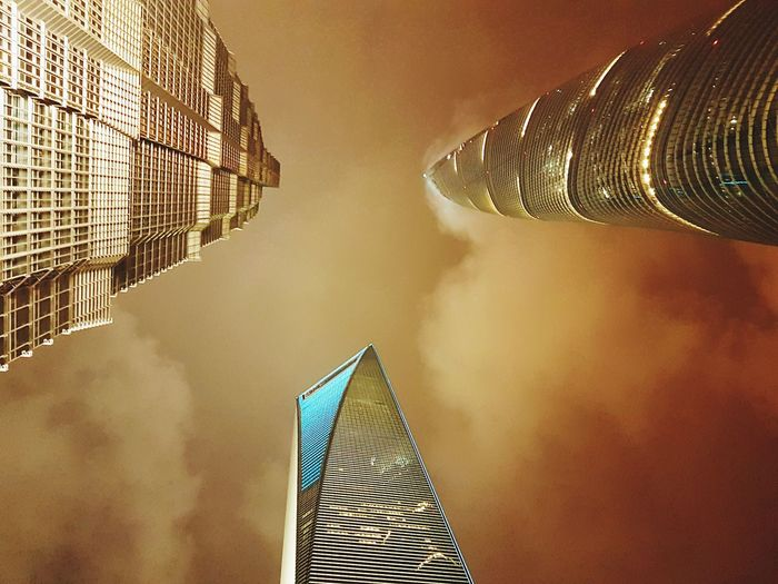 Amazing View Amazing Architecture Architecture Sky Illuminated Flying High Development Skyscraper Shanghai Modern Travel Photography City Life Structure Amazing Pattern New Talents EyeEm Gallery City Night Urban Skyline Cityscape Travel Destinations Building Exterior Incredible Architecture Life Is Beautiful