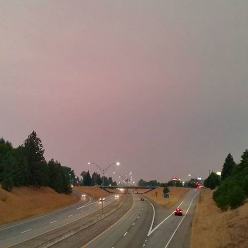 Erie Smoke filled Skies . No Sunset tonight. Everything just has a haunting red grey glow. Northwest Fires everything is on fire this August.